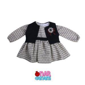 پیراهن دخترانه طرح جلیقه Bami kids سایز 1 تا 12 سال