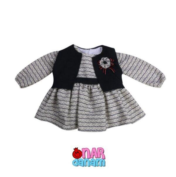 پیراهن دخترانه طرح جلیقه Bami kids | بامی کیدز