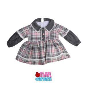 پیراهن چهارخانه دخترانه بامی کیدز سایز 1 تا 12 سال