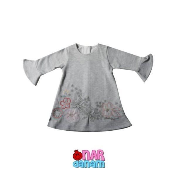 پیراهن دخترانه طرح گلدار Flexi baby سایز 6 تا 24 ماه