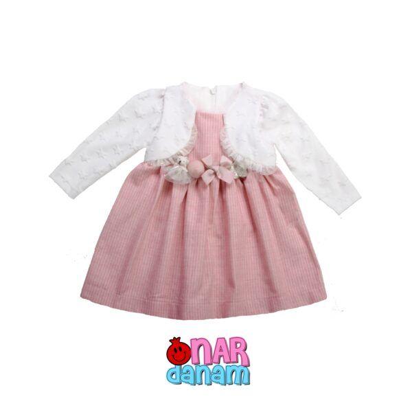 پیراهن دخترانه طرح ستاره Tongs سایز 6 تا 24 ماه