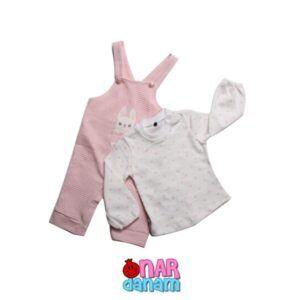 سرهمی طرح خرگوش NECIX'S BABY سایز 3 تا 12 ماه