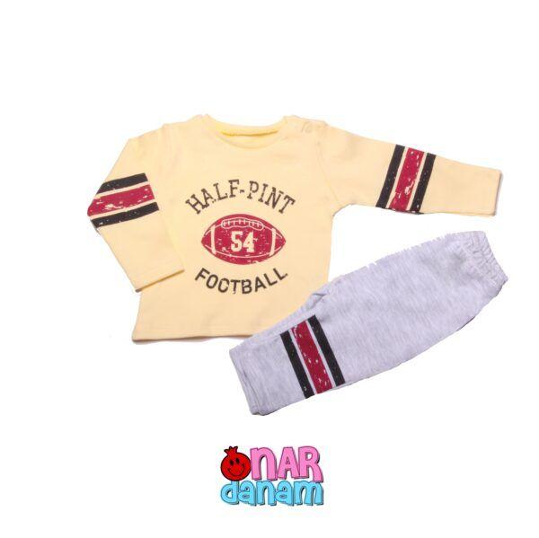ست لباس پسرانه طرح فوتبال بامی کیدز سایز 6 تا 12 ماه