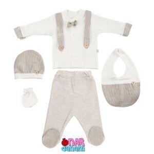ست 5 تکه لباس نوزادی Bebbemini سایز 0 تا 3 ماه