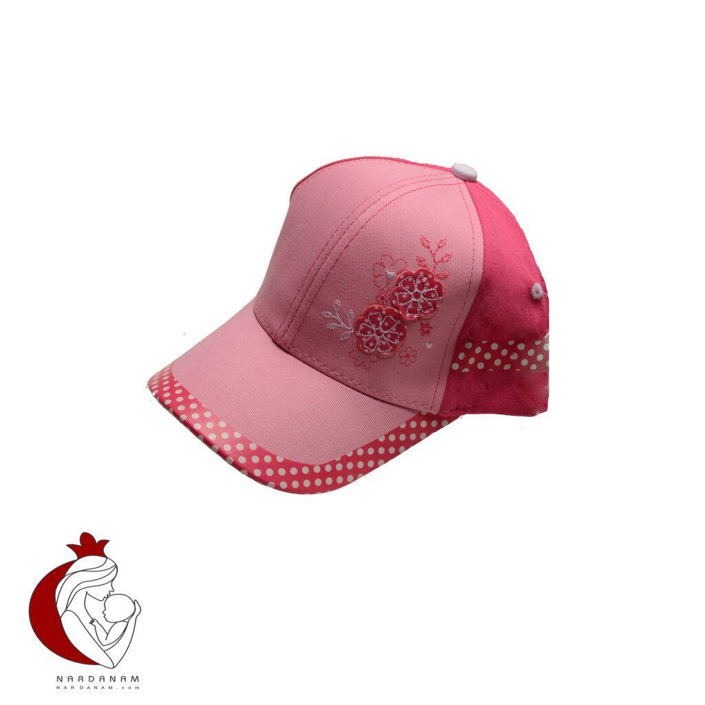 کلاه کپ دخترانه طرح گل