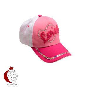 کلاه کپ دخترانه طرح لاو Tidi kidy مناسب برای 3 تا 7 سال