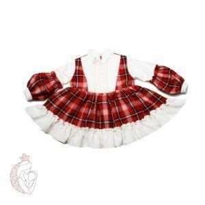 پیراهن دخترانه چهارخانه Bami kids سایز 1 تا 7 سال