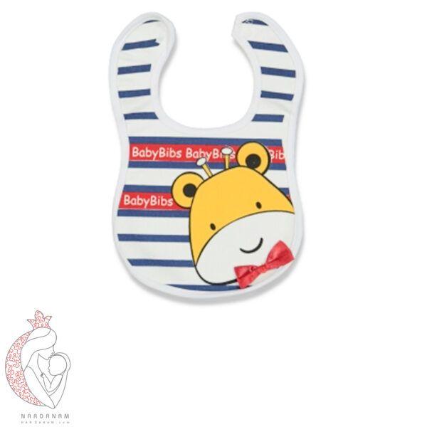 پیش بند نوزادی راه راه طرح زرافه Baby Bibs شروع سایز 1 ماهگی