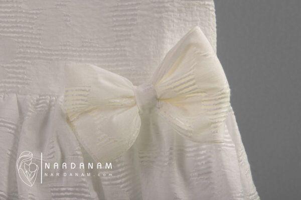 پیراهن پاپیون دار ناردانام مدل دلوین سایز 1 تا 8 سال