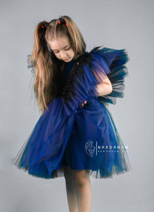 پیراهن عروسکی پردار ناردانام مدل مرسانا سایز 1 تا 8 سال