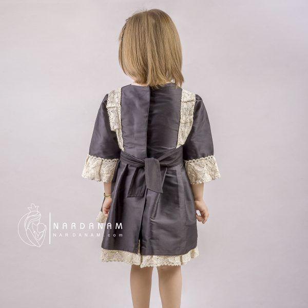 لباس مجلسی تافته دخترانه ناردانام مدل بارلی سایز 1 تا 8 سال