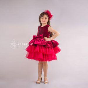 پیراهن پفی دخترانه ناردانام مدل سلنا سایز 1 تا 8 سال
