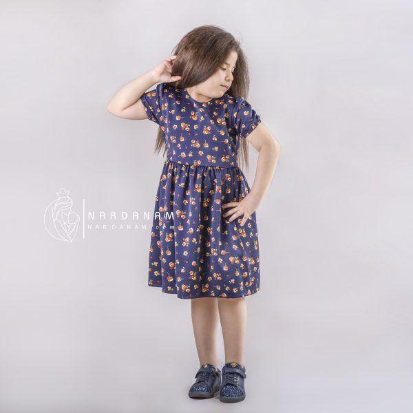 پیراهن تابستانی دخترانه ناردانام مدل سوین سایز 1 تا 6 سال
