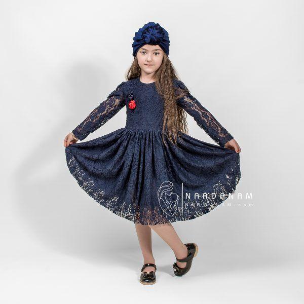 لباس دانتل دخترانه4