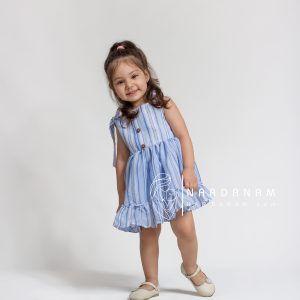 لباس نخی دخترانه تابستانی ناردانام مدل آدا سایز 1 تا 6