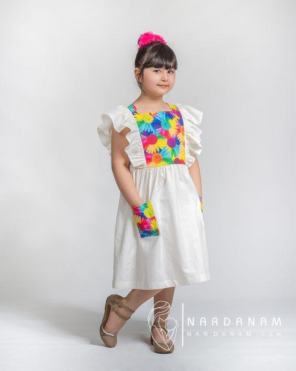 پیراهن نخی تابستانی دخترانه